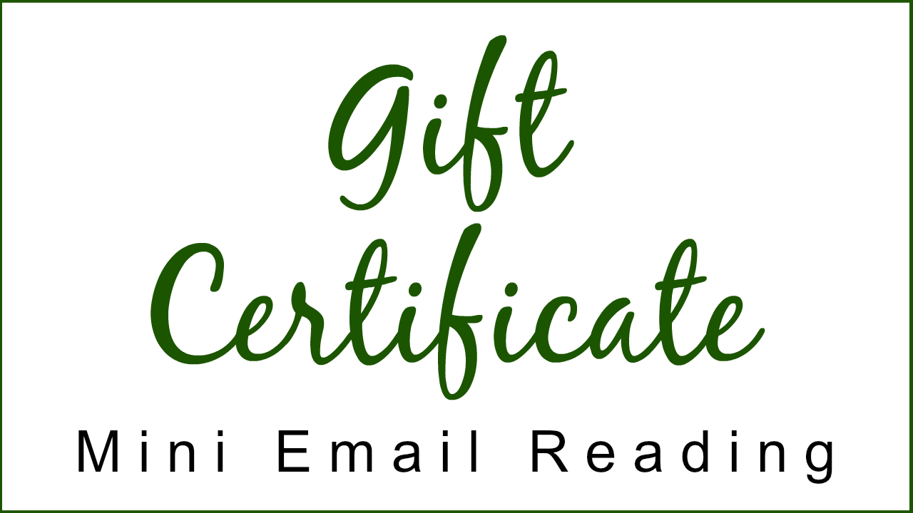 Gift Certificate - Mini Email Reading