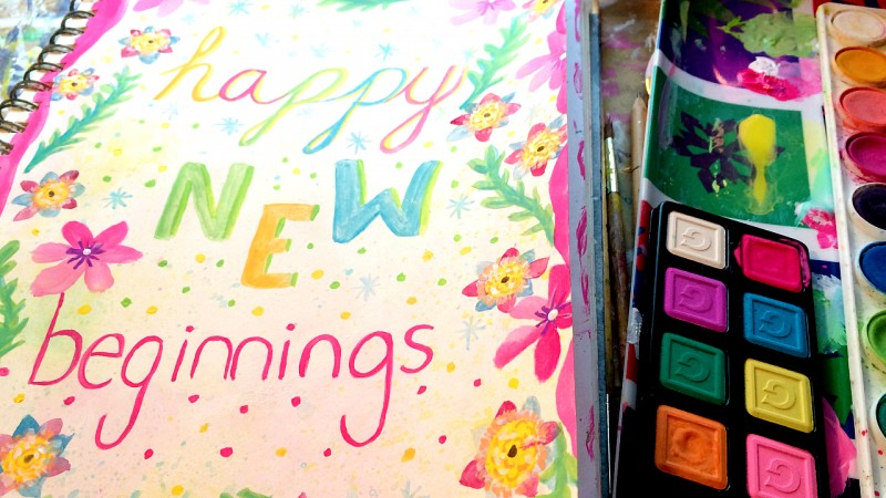 Happy New Beginnings Art Journal