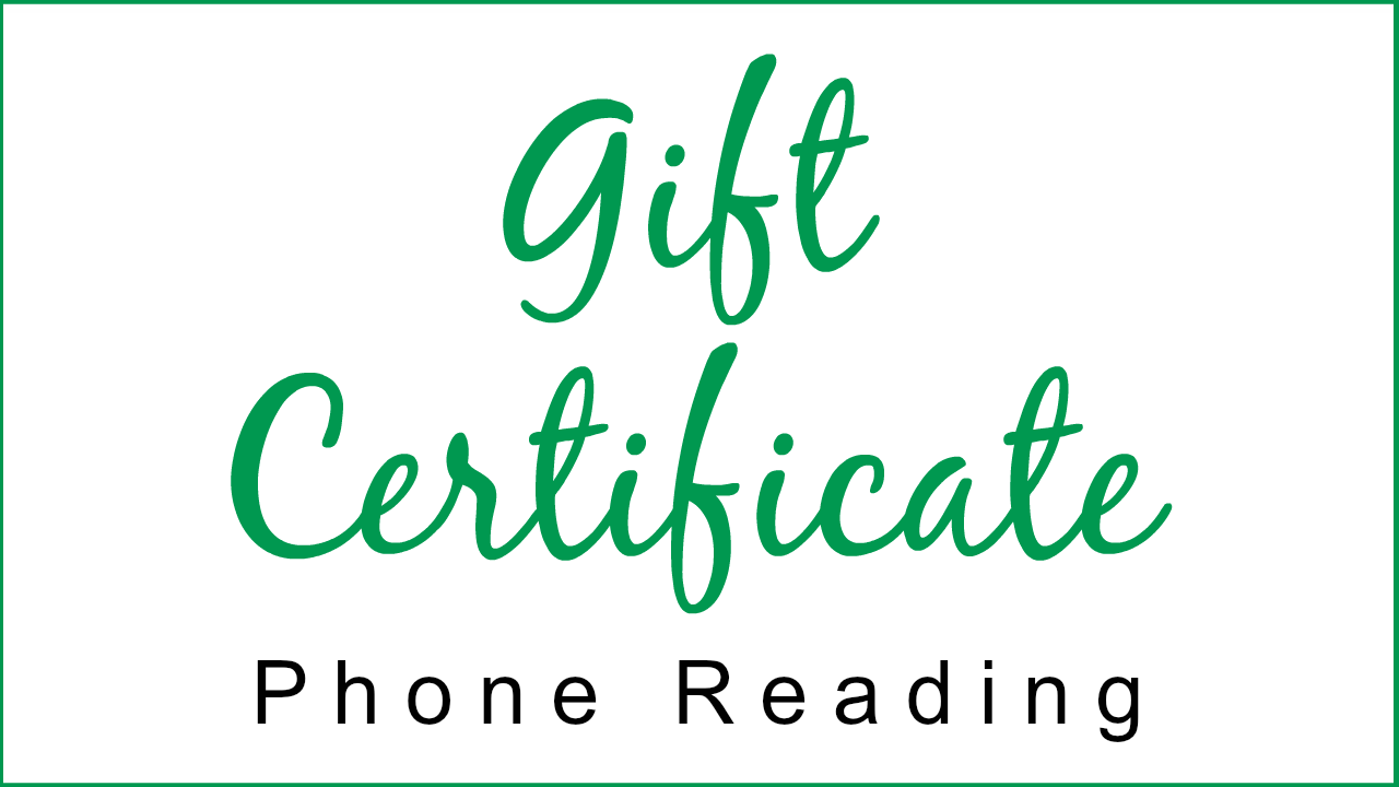 Gift Certificate - Phone Reading