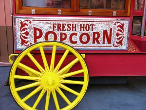 old movie popcorn cart