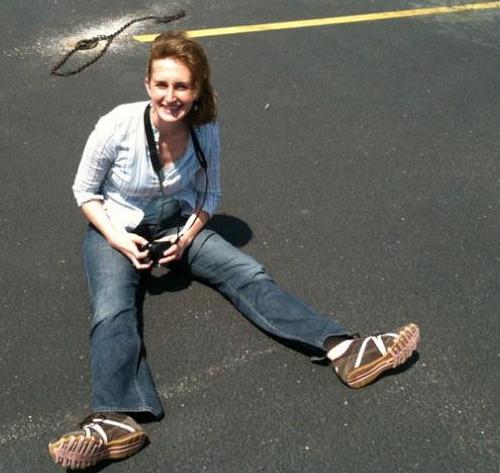 me on the tarmac
