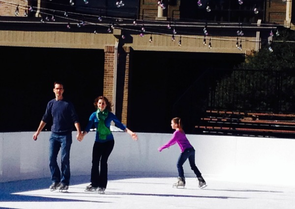 Mark and Melanie ice skating