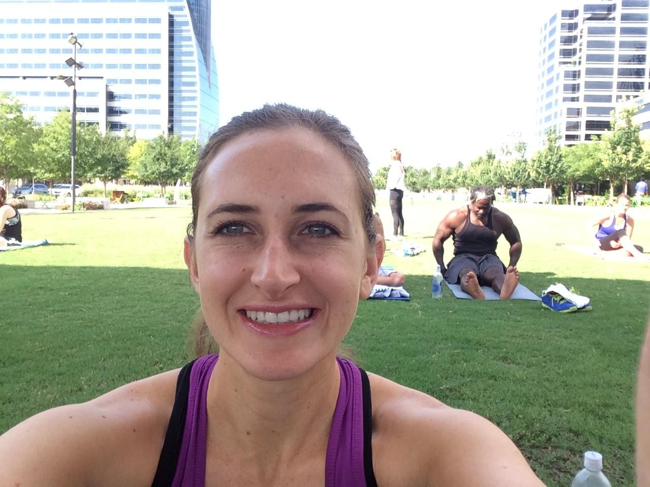 Yoga at Klyde Warren Park