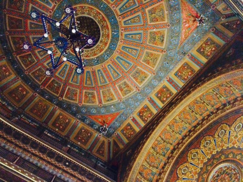 Ceiling of Teatro Juarez in Guanajuato Mexico