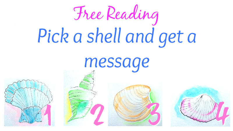 Free Reading Pick a shell and get a message by Melanie The Medium