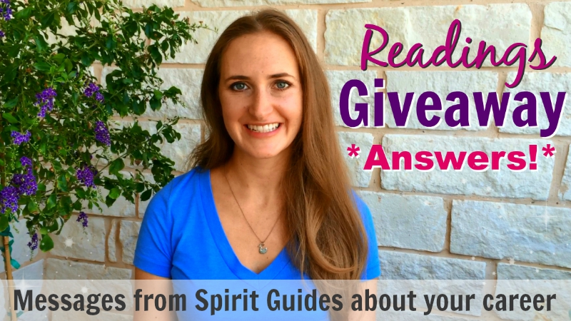 Readings Giveaway Answers Career