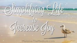 Simplifying Life to Increase Joy