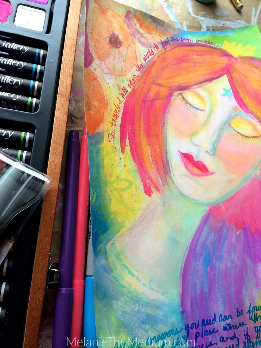 World Traveler Painting by Melanie The Medium